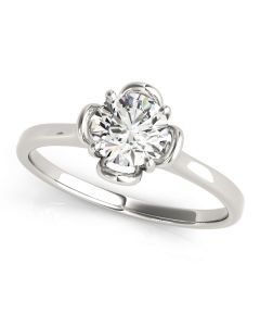 Engagement Ring - 14K White Gold - Solitaires - Round - Style 84829