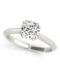 Engagement Ring - 14K White Gold - Solitaires - Round - Style 84844