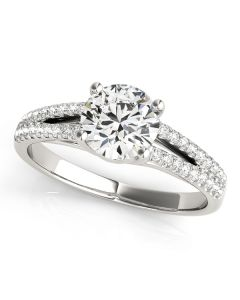 Engagement Ring - 14K White Gold - MultiRow - Style 84847