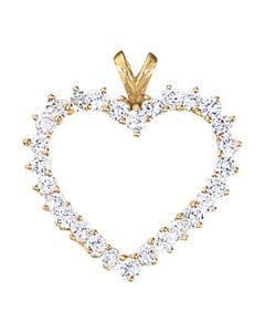 Pendants - 14K Yellow Gold - Heart - Style 30252