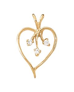 Pendants - 14K Yellow Gold - Heart - Style 30381