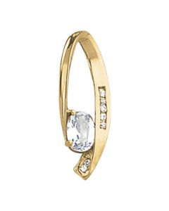 Pendants - 14K Yellow Gold - Solitaires - Style 30922