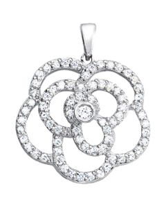 Pendants - 14K White Gold - Fashion - Style 31013