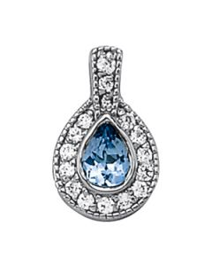 Pendants - 14K White Gold - Color - Pear - Style 31343
