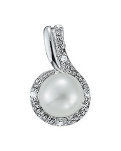 Pendants - 14K White Gold - Color - Pearl - Pear - Style 31644