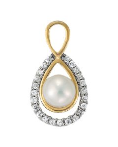 Pendants - Two Tone - Color - Pearl - Pear - Style 31806