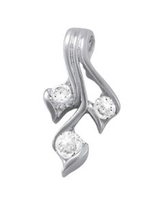 Pendants - 14K White Gold - Fashion - Style 32196