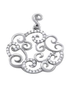 Pendants - 14K White Gold - Fashion - Style 32197