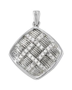 Pendants - 14K White Gold - Fashion - Style 32249