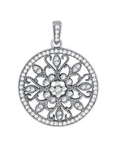Pendants - 14K White Gold - Fashion - Style 32370