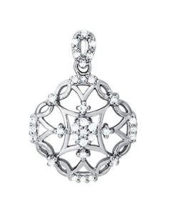 Pendants - 14K White Gold - Fashion - Style 32384