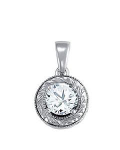 Pendants - 14K White Gold - Solitaires - Style 32388