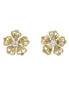 Earrings - 14K Yellow Gold - Single Stone - Style 40002