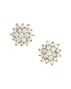 Earrings - 14K Yellow Gold - Cluster - Style 40044