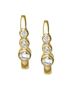 Earrings - 14K Yellow Gold - J-Hoops - Hoop Earring - Style 40105