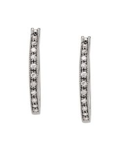 Earrings - 14K White Gold - Hoop Earring - Standard Hoops - Style 40606