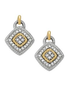 Earrings - Two Tone - Cluster - Style 40888