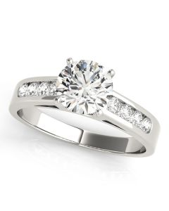 Engagement Ring - 14K Yellow Gold - Single Row - Channel Set - Style 50005-E