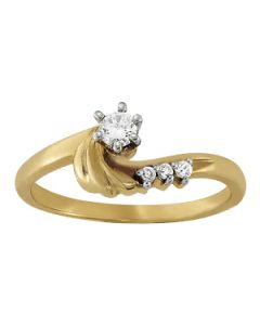 Engagement Ring - 14K Yellow Gold - Bypass - Style 50214-E