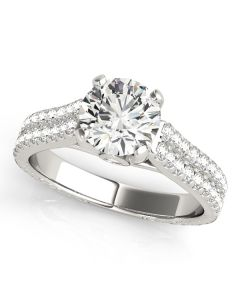 Engagement Ring - 14K White Gold - Pave - Style 50518-E