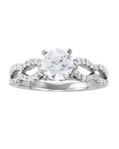 Engagement Ring - 14K White Gold - MultiRow - Style 50553-E