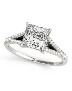 Engagement Ring - 14K White Gold - MultiRow - Style 50660-E