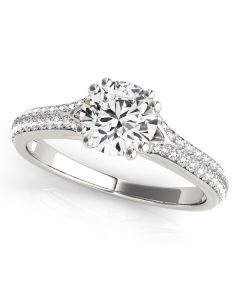 Engagement Ring - 14K White Gold - MultiRow - Pave - Style 50969-E