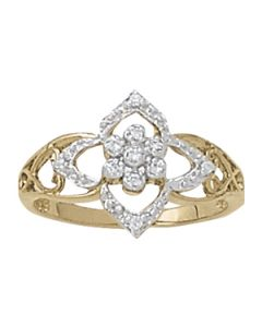 Diamond Fashion - 14K Yellow Gold - Fashion Rings - Style 82266
