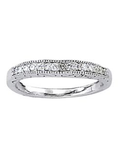 Wedding Ring - 14K White Gold - Curved Bands - Style 82676-W