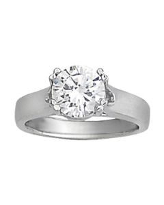 Engagement Ring - 14K White Gold - Solitaires - Trellis - Round - Style 82887