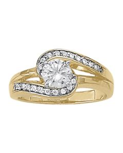 Engagement Ring - 14K Yellow Gold - Bypass - Style 83326