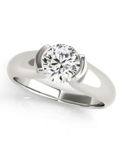 Engagement Ring - 14K White Gold - Solitaires - Round - Style 83343