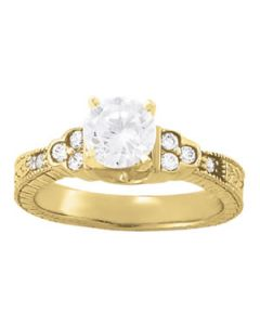 Engagement Ring - 14K Yellow Gold - Antique - Style 83356