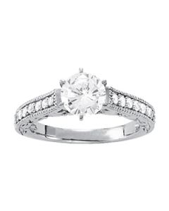 Engagement Ring - 14K White Gold - Antique - Style 83854