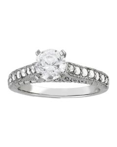 Engagement Ring - 14K White Gold - Antique - Style 83859