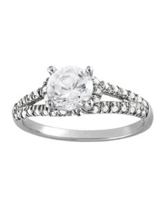 Engagement Ring - 14K White Gold - MultiRow - Style 83904