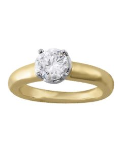 Engagement Ring - Two Tone - Solitaires - Round - Style 84044