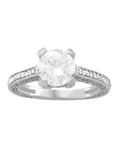 Engagement Ring - 14K White Gold - Antique - Style 84141