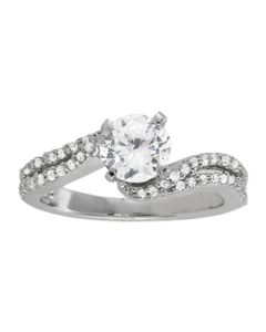Engagement Ring - 14K White Gold - MultiRow - Style 84262