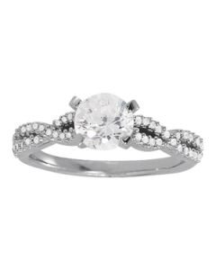 Engagement Ring - 14K White Gold - MultiRow - Style 84274