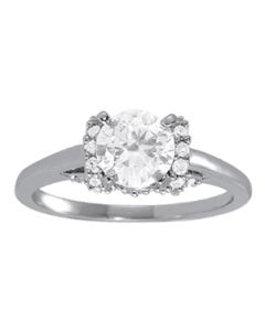 Engagement Ring - 14K White Gold - Solitaires - Round - Style 84319