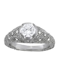 Engagement Ring - 14K White Gold - Antique - Style 84521