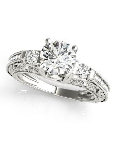 Engagement Ring - 14K White Gold - Antique - Style 84522