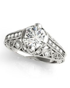 Engagement Ring - 14K White Gold - Antique - Style 84523