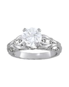 Engagement Ring - 14K White Gold - Antique - Style 84531