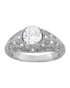 Engagement Ring - 14K White Gold - Antique - Style 84536