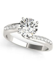Engagement Ring - 14K White Gold - Bypass - Style 84770