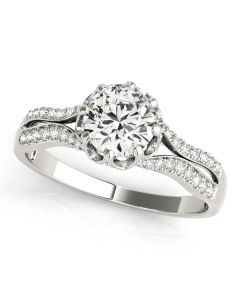 Engagement Ring - 14K White Gold - MultiRow - Style 84886