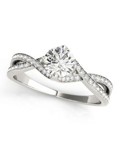 Engagement Ring - 14K White Gold - MultiRow - Style 84891