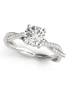 Engagement Ring - 14K White Gold - MultiRow - Style 84905